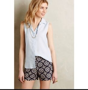 Anthropologie| cloth and stone Chambray Tank XS